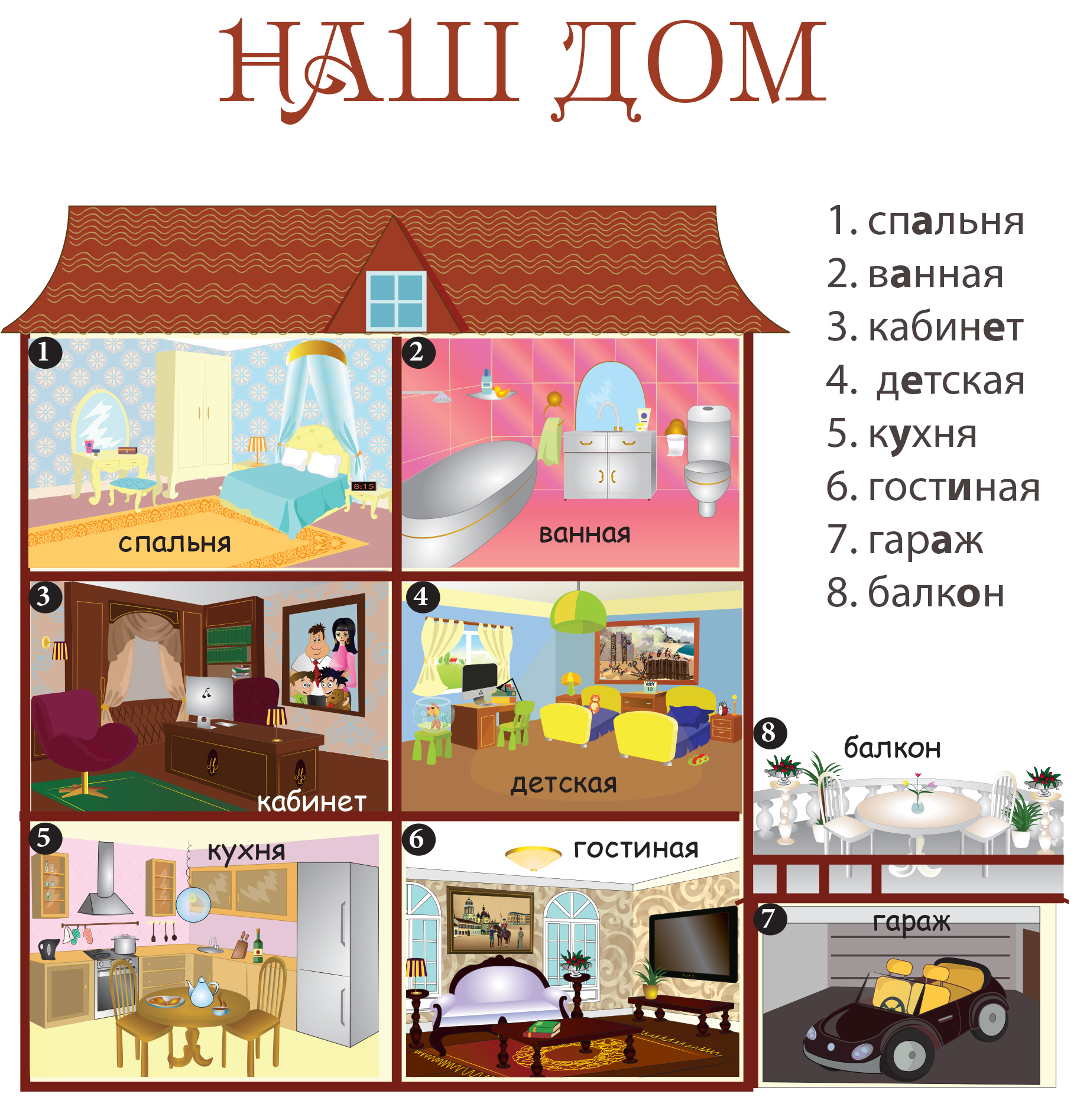 rooms in russian